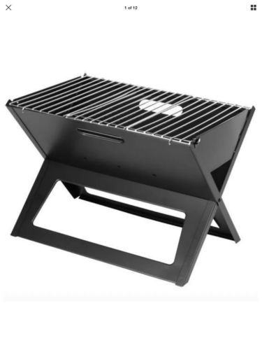 Outdoor Portable Folding Charcoal BBQ Grill Compact Tailgate Camping Camp Stove