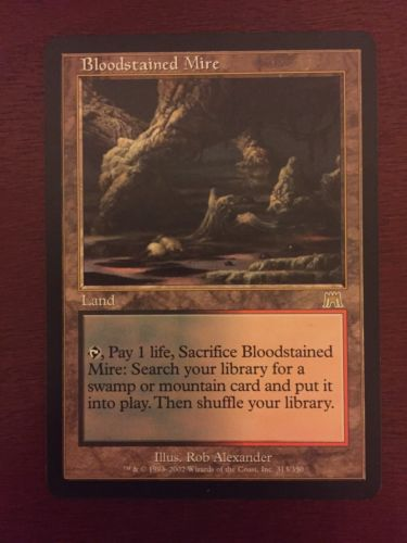 MTG Bloodstained Mire x1 N/M Non Played Onslaught Land