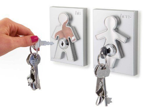 His and Her Key Holders the Couple Human Key Holders (Set of 2) Perfect House