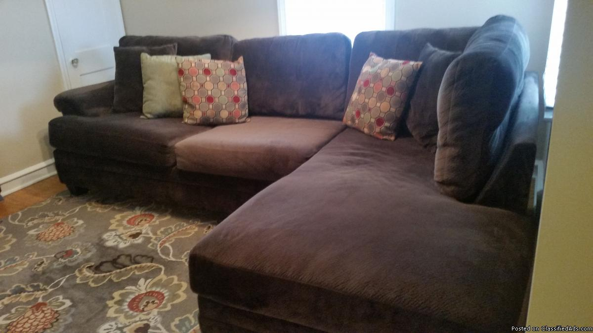 Chocolate Brown Sectional