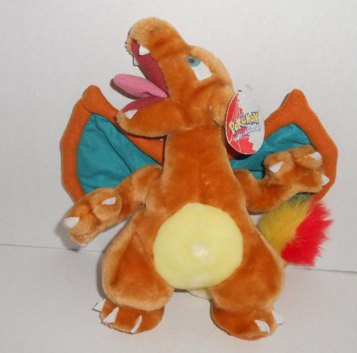 NWT Pokemon Nintendo Dragon CHARIZARD Game Freak Plush Stuffed 1999 Play by Play