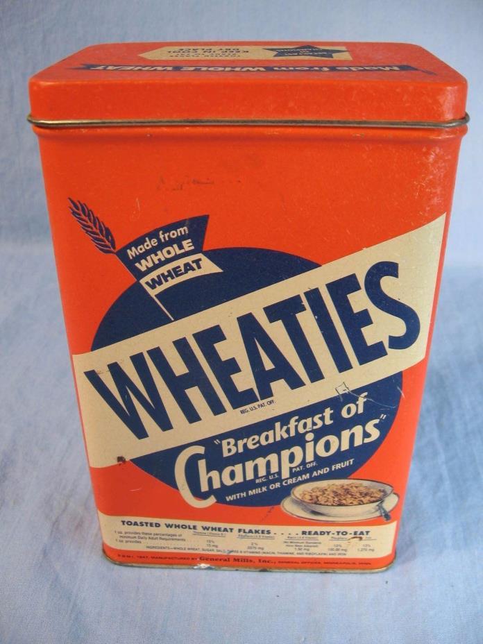 Wheaties Breakfast of Champions Tin