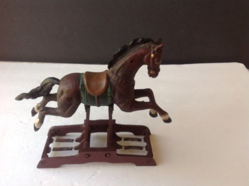 Vintage CAST IRON Spring Glider Horse w/ Beautiful Detail