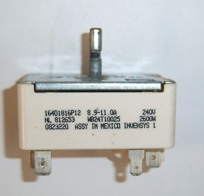 Oven Burner Control Switch WB24T10025 164D1816P12