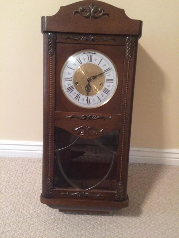 German FHS Hermle Westminster chime wall clock