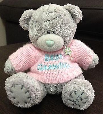 Me to You Tatty Teddy Bear - Best Grandma (Plush Soft Toy Grandparent Gift)