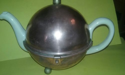 Antique Copper Tea Cozy Teapot is Cracked!