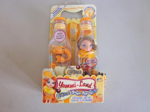 Yummi-Land Ice Cream Soda Pop Girl ORIANA ORANGE CREME & HOLLY HONEY HUSKEY PET