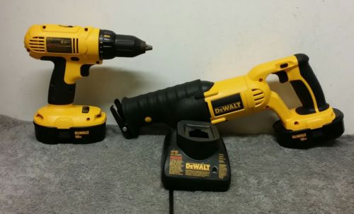 Dewalt DC970 Drill and Reciprocating Saw Combo excellent conditions,lightly used