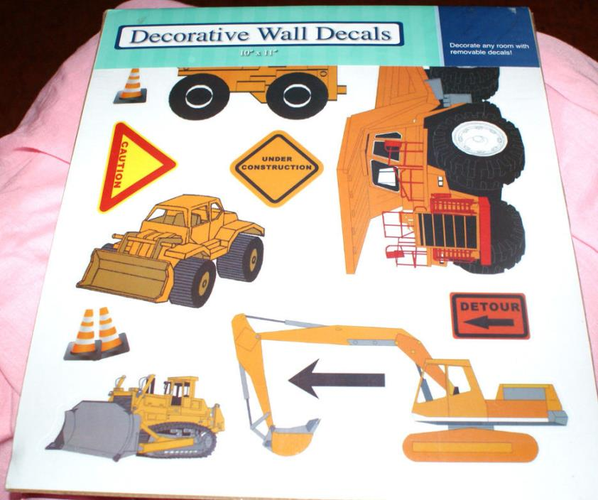 Removable Wall Decals Construction/Fire Pickup Truck/Daisies/Tropical Fun NEW