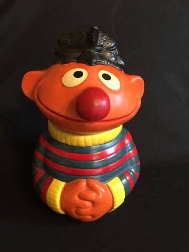 Vintage 1970's Ernie Ceramic Cookie Jar Muppets Sesame Street Jim Henson