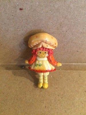 Vintage Strawberry Shortcake Clay Pin Unique and Adorable!