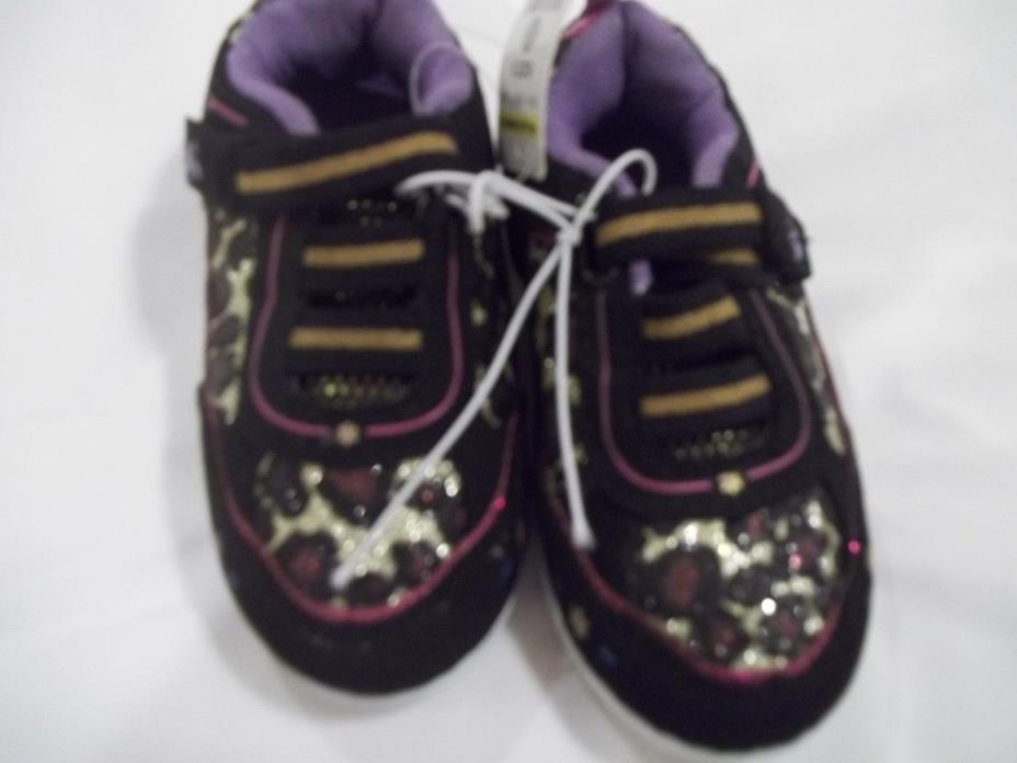 NWT Girls toddler animal print  sneaker shoes size 5