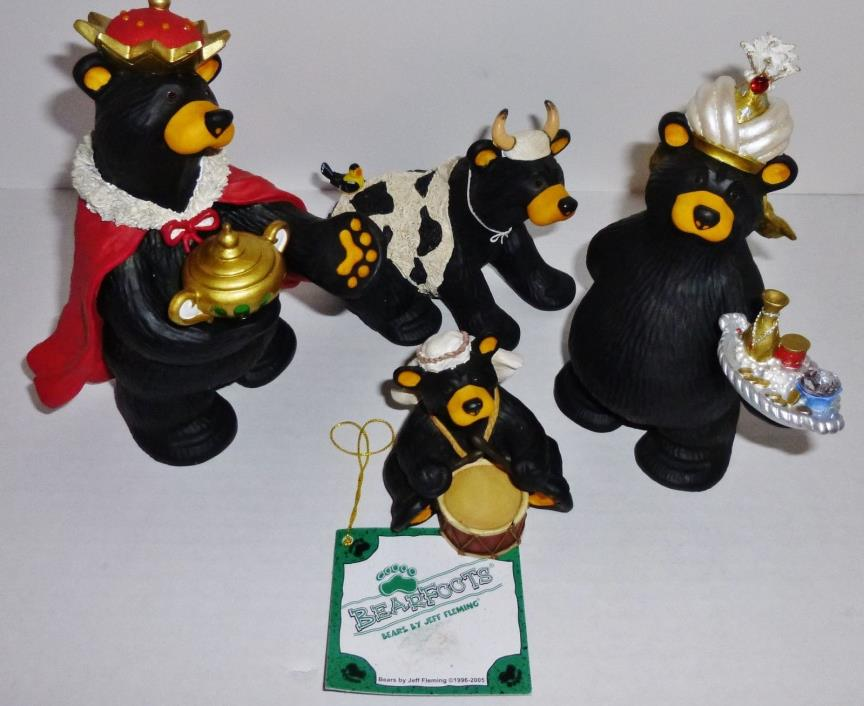 Bearfoots Beartivity J Fleming Nativity Christmas Bears Bird Drummer Cow Gifts