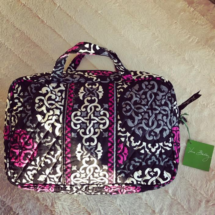 Vera Bradley Grand Cosmetic Bag Canterberry Magenta