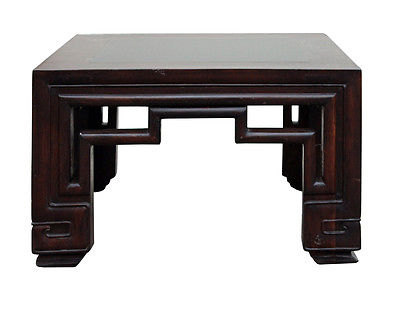 Chinese Oriental Square Ru Yi Legs Stone Top Coffee Table cs2499