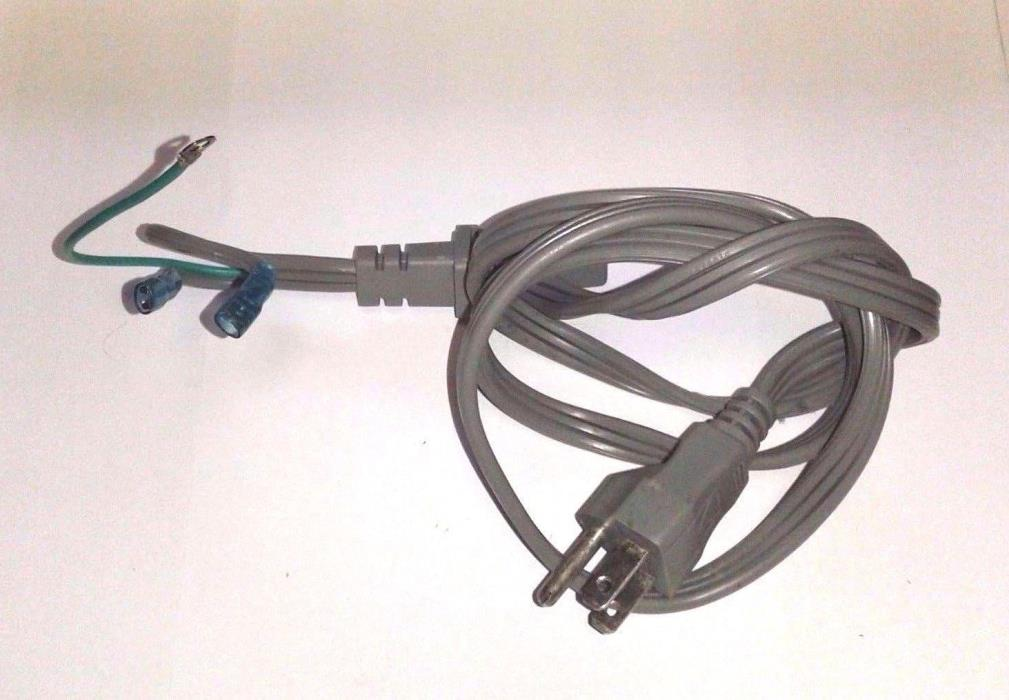 Microwave Power cord Replacement Gray. Fits many microwaves