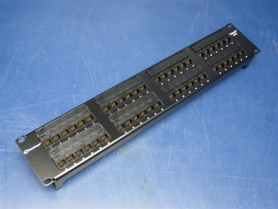 Commscope Uniprise UNP510-48P Cat5e 48-Port Patch Panel 2U Rack Mount