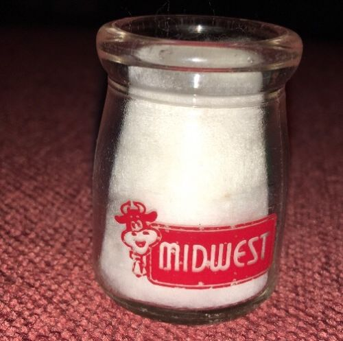 Vintage Early Glass Dairy Creamer Single Sided Midwest