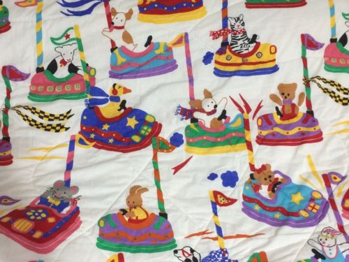 Waechtersbach Germany Gear Animals Bumper Cars Vtg Twin Comforter
