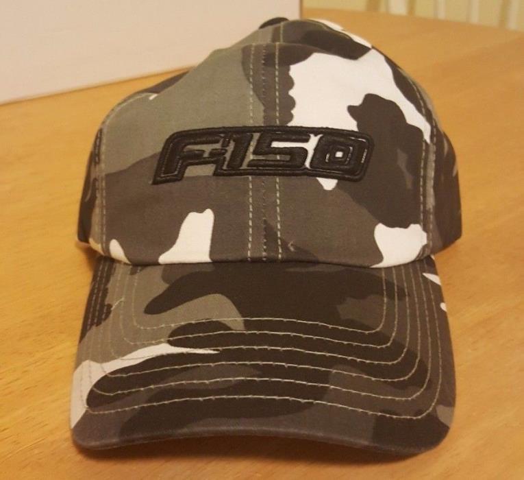 Black/Gray and White Camo F150 hat buckle strap