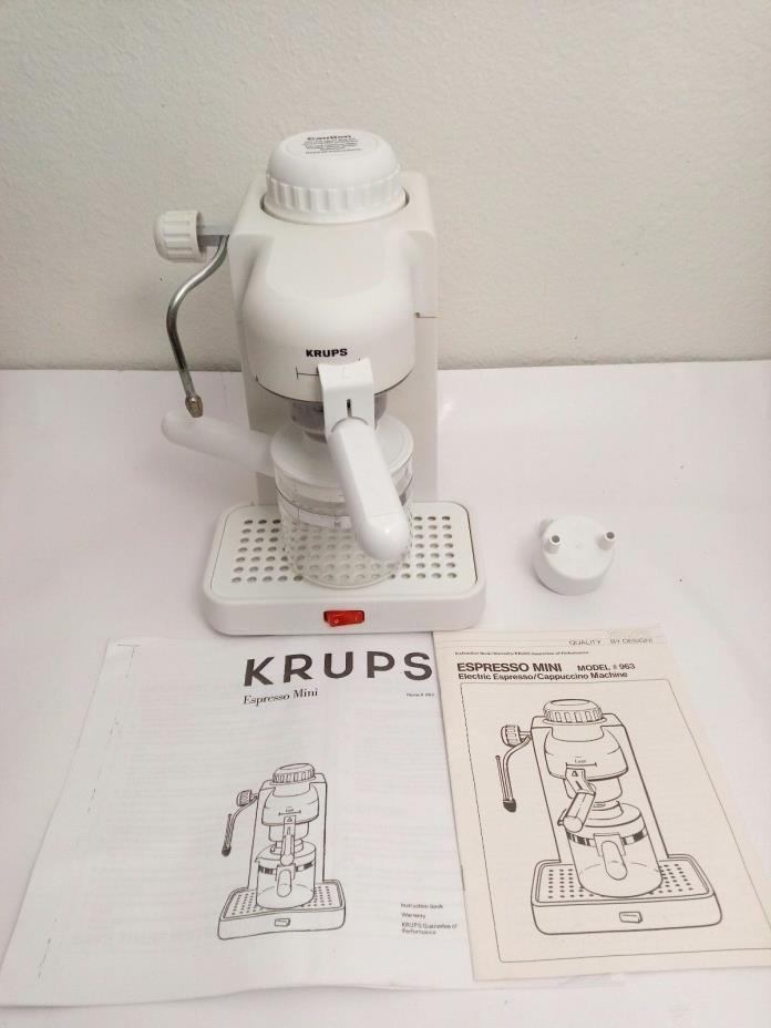 Krups Espresso Mini 963A WHITE 2-4 CUP ESPRESSO