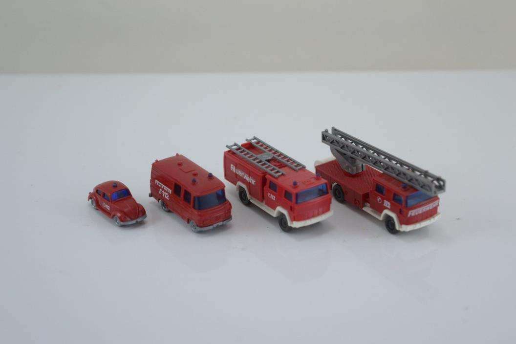 Wiking Fire Engine Trucks / Vehicles N Scale (N5)