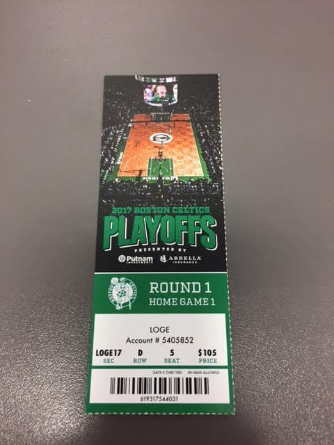 Boston Celtics Chicago Bulls Round 1 Game 1 MINT Ticket 4/16/17 2017 NBA Stub
