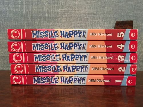 Missile Happy Volumes 1-5 Manga Set English By Miki Kiritani