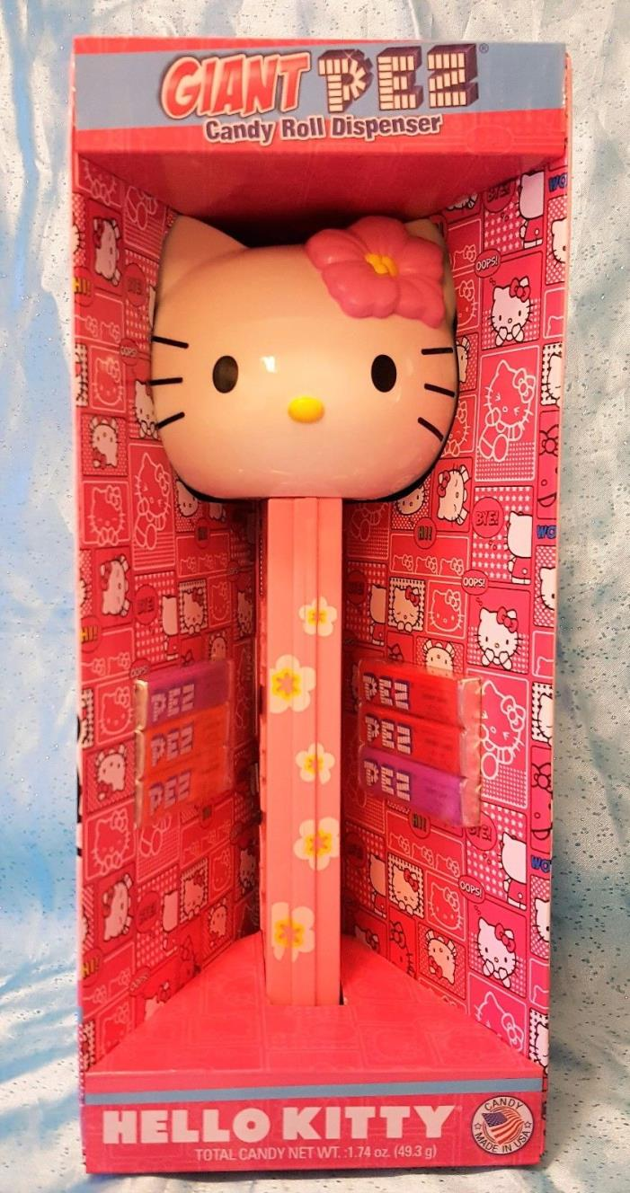 Giant Hello Kitty PEZ Candy Roll Dispenser ~ New in Box
