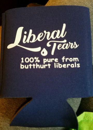 Black 100 Percent Liberal Tears Koozie Coozie