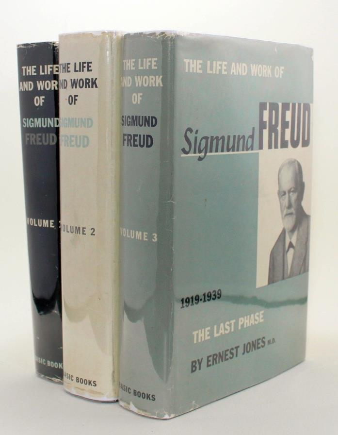 The Life & Work of Sigmund Freud 3 Volume Set Ernest Jones Psychology Vtg Basic