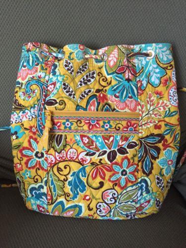 Vera Bradley Provencal Backpack-Style Bag - Fabulous Condition Lovely for Spring