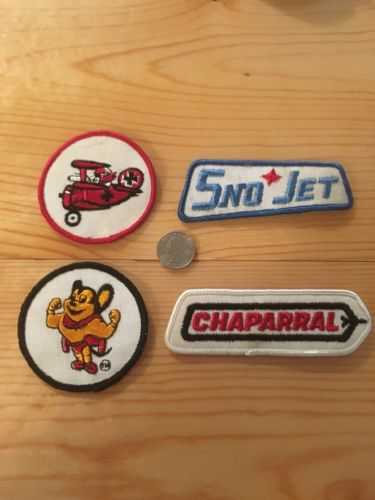 Vintage Snowmobile Patch Lot, Snow Jet , Chaparral, Red Barron Unused 1970S