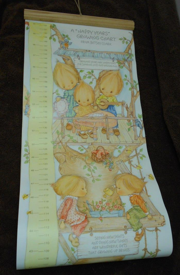 Precious Moments Happy Years Growth Chart By Betsey Clark Hallmark Vintage 1980
