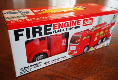 911 Fire Truck Powerful Fire Engine Flash Electric, Techege Toys, New sealed