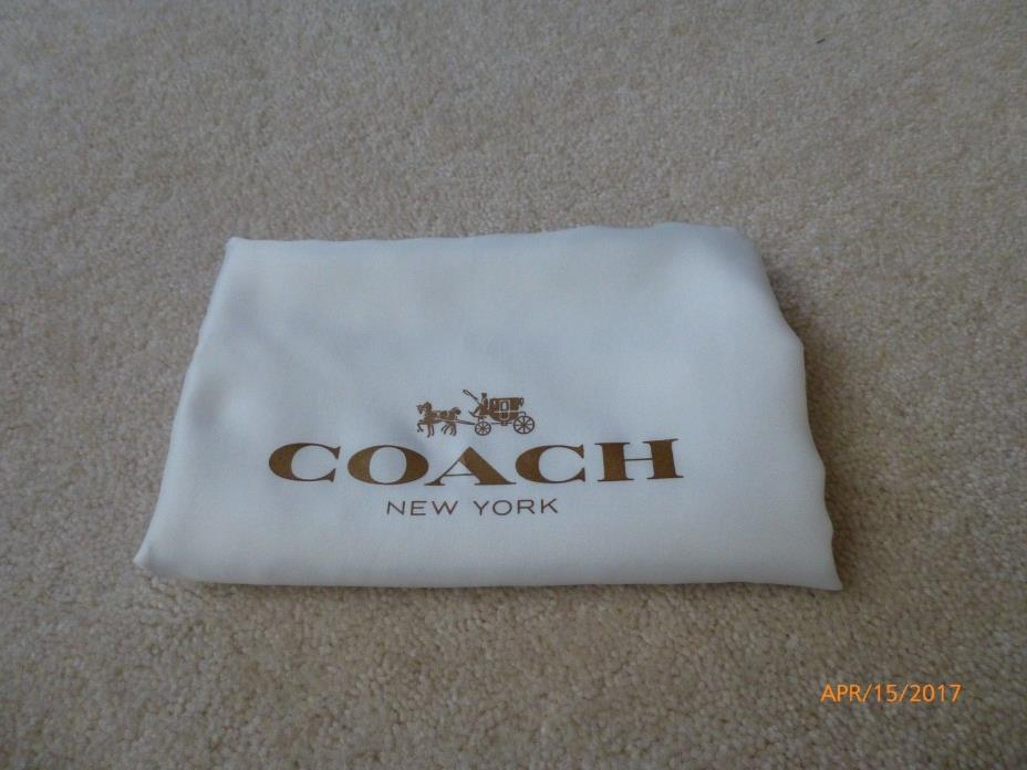 New Coach Drawstring Dust Bag Cover Storage 24''Wx19''H