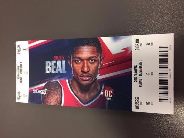 Washington Wizards Hawks Round 1 Game 1 MINT Ticket 4/16/17 2017 NBA Stub