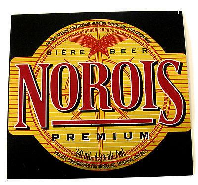Lakeport Brewing Corp NOROIS PREMIUM beer label CANADA 341ml