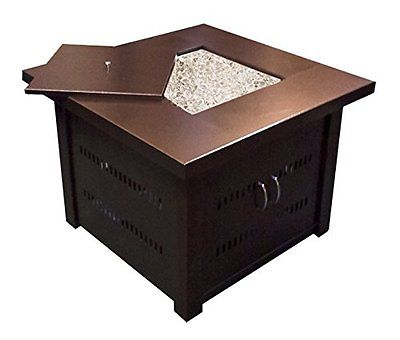 AZ Patio Heaters GS-F-PC Propane Fire Pit Antique Bronze Finish Pits Chimineas