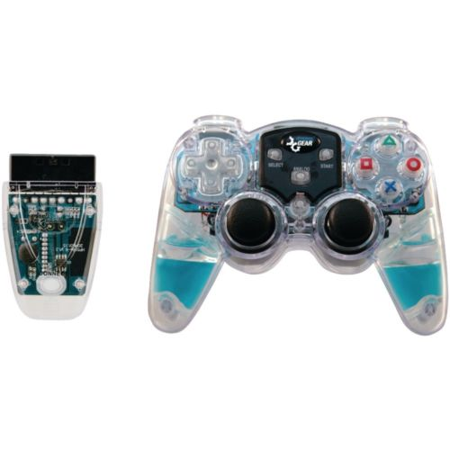 Dreamgear - Playstation2 2.4GHz Technology Lava Glow Wireless Controller (Blue)