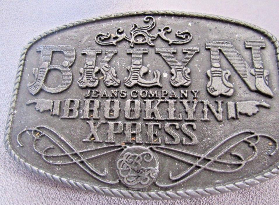 VINTAGE COLORED BKLYN JEANS COMPANY BROOKLYN XPRESS BELT BUCKLE