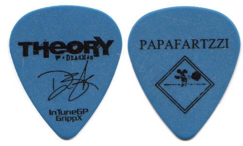 THEORY OF A DEADMAN Guitar Pick : 2012 Tour - Papafartzzi Dean Back blue