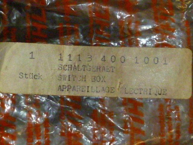 NOS OEM STIHL Chainsaw Ignition Trigger Unit switch box 1113 400 1001 , 031 032