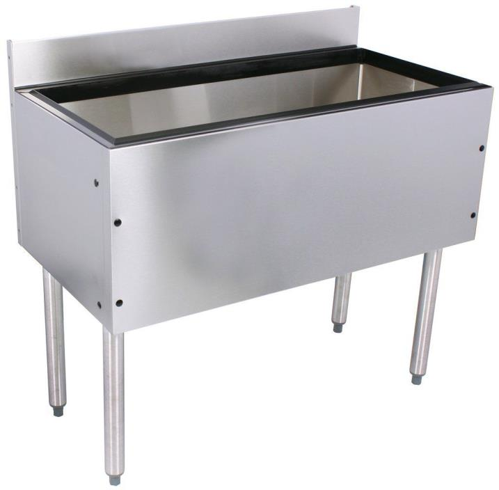 Glastender Choice Stainless Steel Commercial Back Bar Ice Bin 42