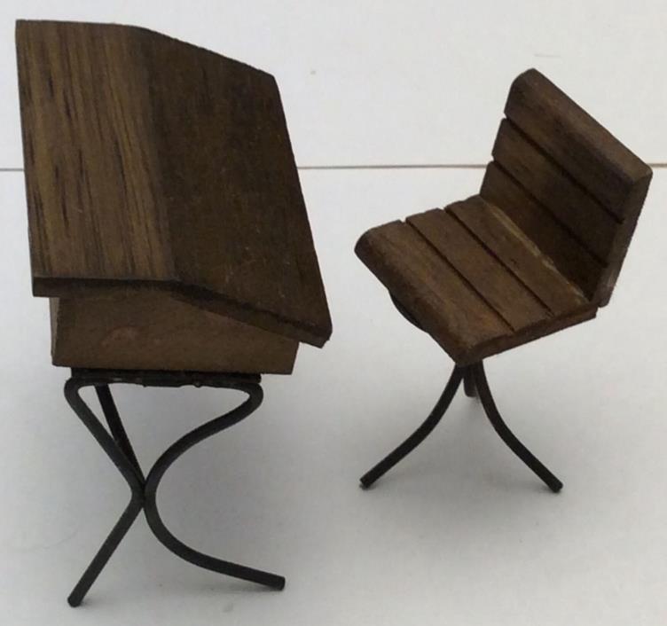 Old Fashioned Furniture For Sale: Vintage School Furniture