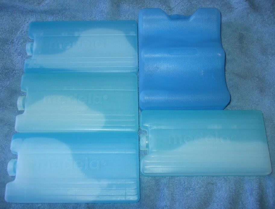 LOT OF MEDELA COOLING FREEZER ELEMENT ICE PACKS USED