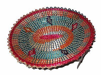 Colorful Handmade Ethiopian Basket : Ethiopia African Decor
