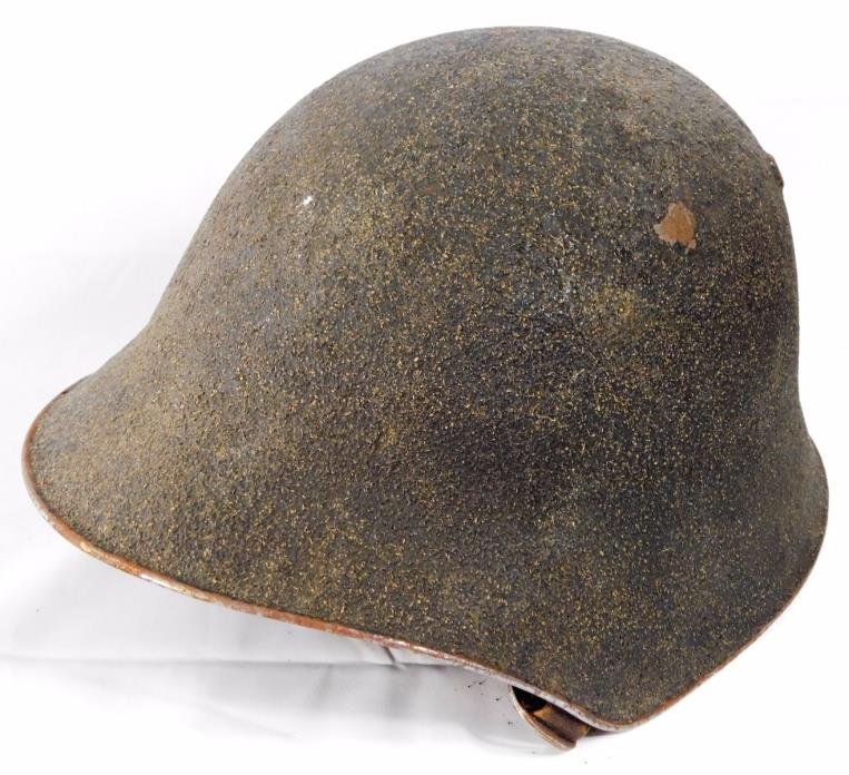 Vtg WWII ERA SWISS Army Helmet w/ Leather Liner and Chinstrap