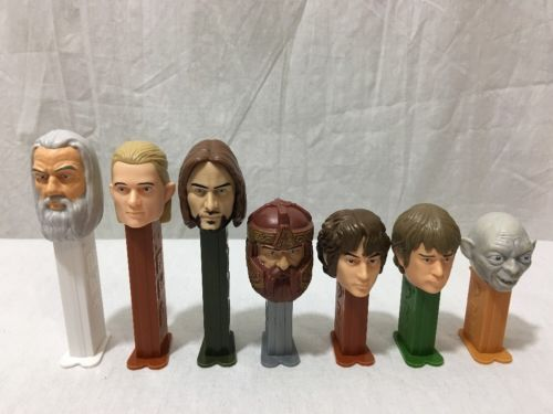 Pez Lord Of The Rings Lot of 7 Gandalf Gollum Frodo Candy Dispensers Collect